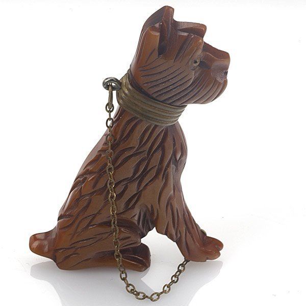 8: BAKELITE DOG BROOCH