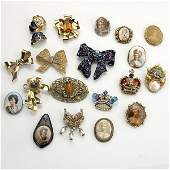 9: COSTUME BROOCHES