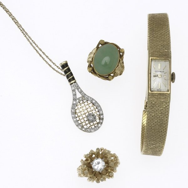 16: GOLD JEWELRY AND GUBELIN WATCH