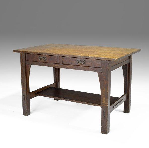 800: GUSTAV STICKLEY LIBRARY TABLE
