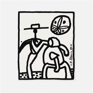Keith Haring, Unique preparatory print