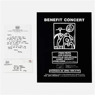 Keith Haring, Letter with Kutztown concert poster