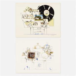 Saul Steinberg, Braque; two works, Six Drawing Tables