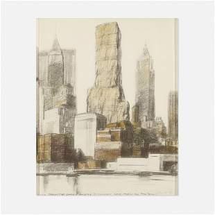 Christo, Lower Manhattan Packed Building