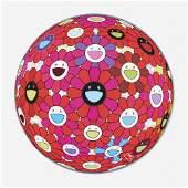 Takashi Murakami, Flowerball (3D) - Red Ball