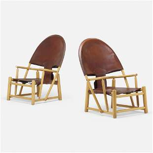 Werther Toffoloni and Piero Palange, Hoop chairs, pair
