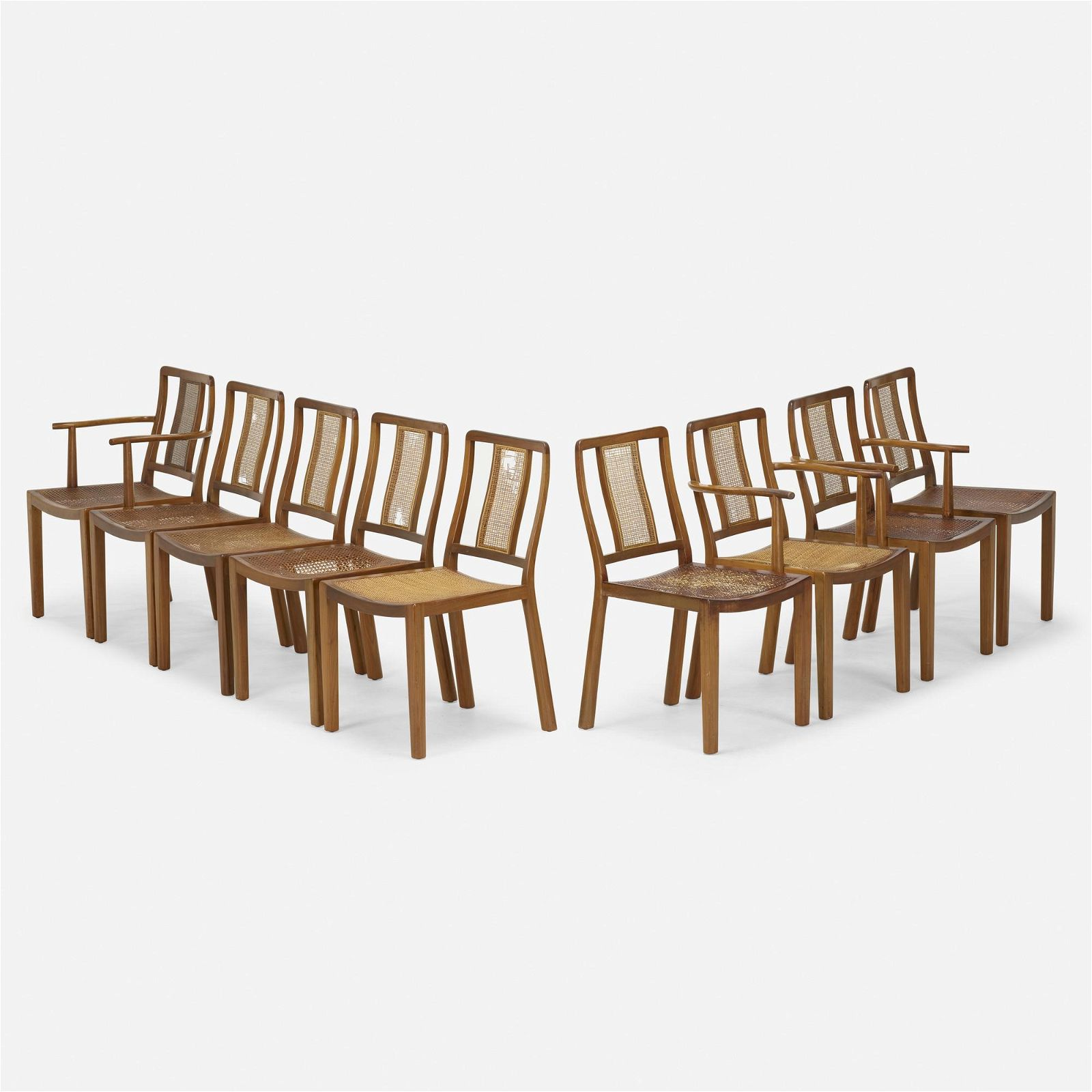Edward Wormley, Dining chairs, set of nine