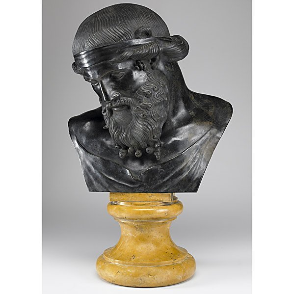 1: PATINATED BRONZE BUST