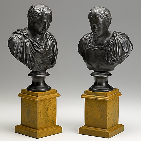 5: PAIR OF BRONZE BUSTS