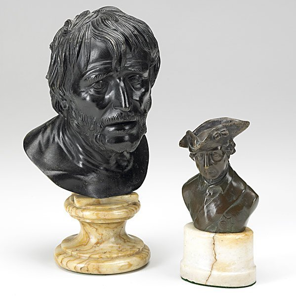 6: TWO BRONZE BUSTS