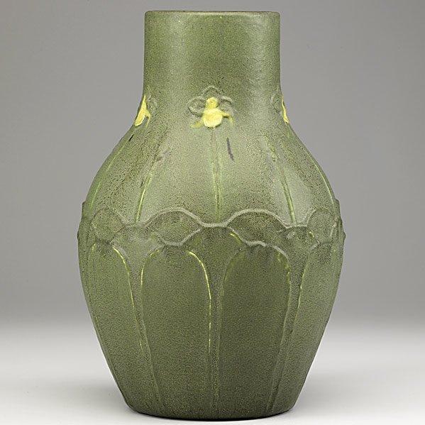 11: GRUEBY Large matte green vase
