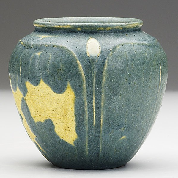 14: GRUEBY Blue-grey cabinet vase