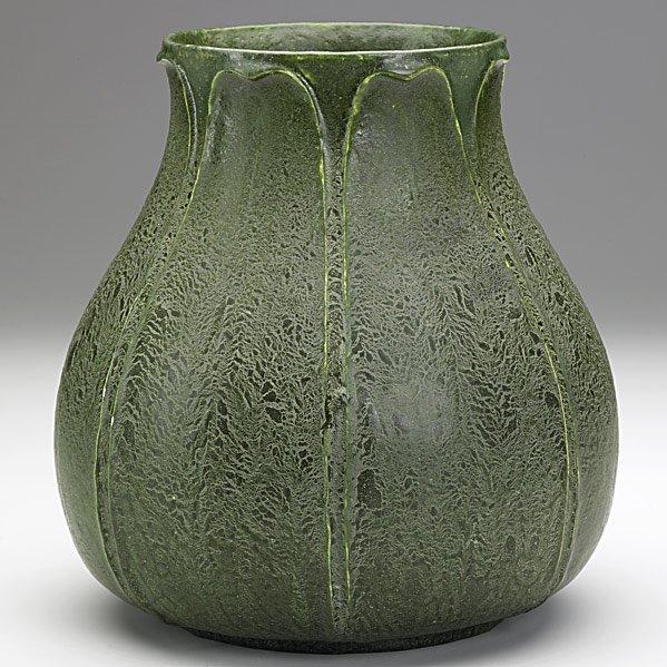 17: GRUEBY Fine bulbous vase