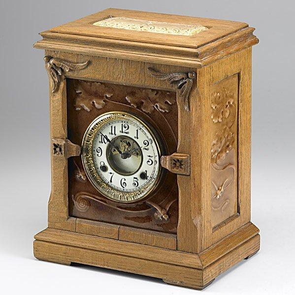 21: J. & J.G. LOW Rare tile clock