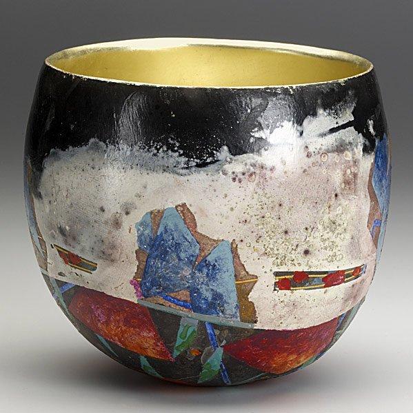 330: BENNETT BEAN Glazed earthenware vessel