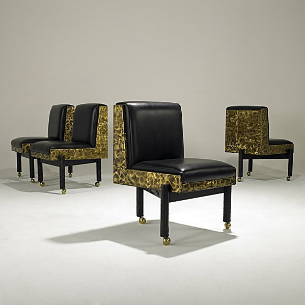 501: PAUL EVANS Set of four dining chairs