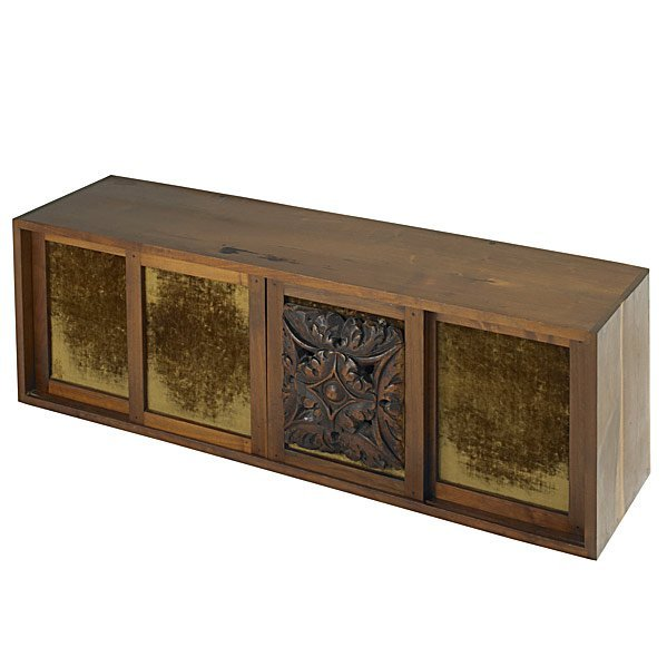 517: PHIL POWELL Walnut wall-hanging credenza