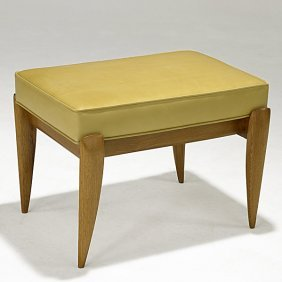 GIO PONTI; SINGER & SONS Oak And Leather Bench
