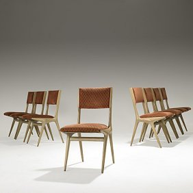 CARLO DI CARLI; SINGER & SONS Eight Side Chairs