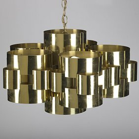 CURTIS JERE Brass Ceiling Fixture