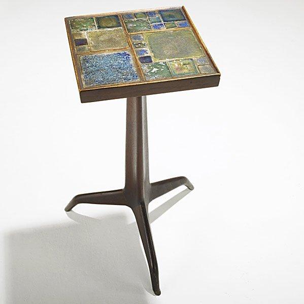 727: EDWARD WORMLEY; DUNBAR; TIFFANY Janus side table