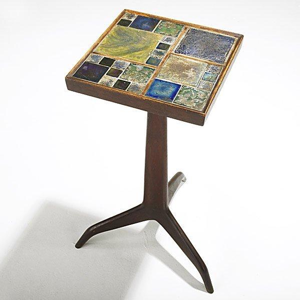 728: EDWARD WORMLEY; DUNBAR; TIFFANY Janus side table