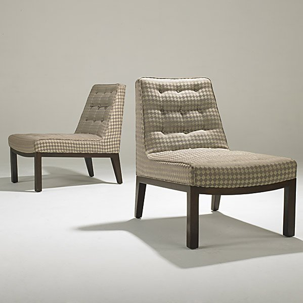 731: EDWARD WORMLEY; DUNBAR Pair of lounge chairs