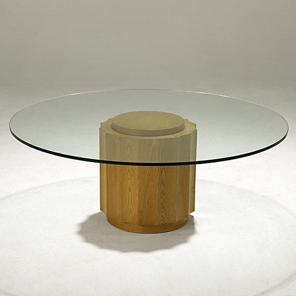 732: EDWARD WORMLEY; DUNBAR Oak cocktail table