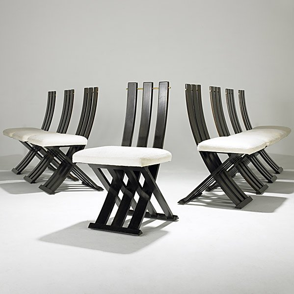735: HARVEY PROBBER Eight dining chairs
