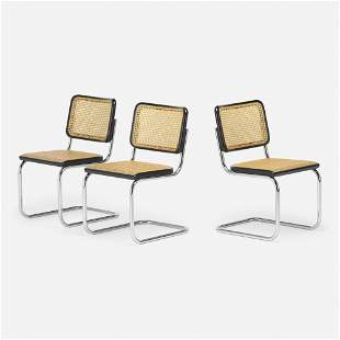 Marcel Breuer, Chairs model S32, set of three
