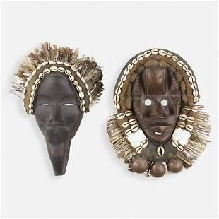Cote d'Ivoire style, Masks, set of two