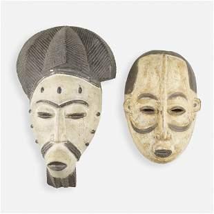 Igbo artist, Masks, set of two