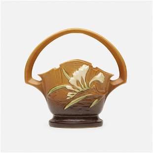 Roseville Pottery, Freesia basket