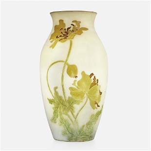 Roseville Pottery, Woodland vase with poppies