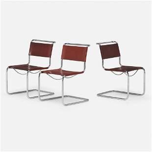 Mart Stam, Chairs model S 33, set of three