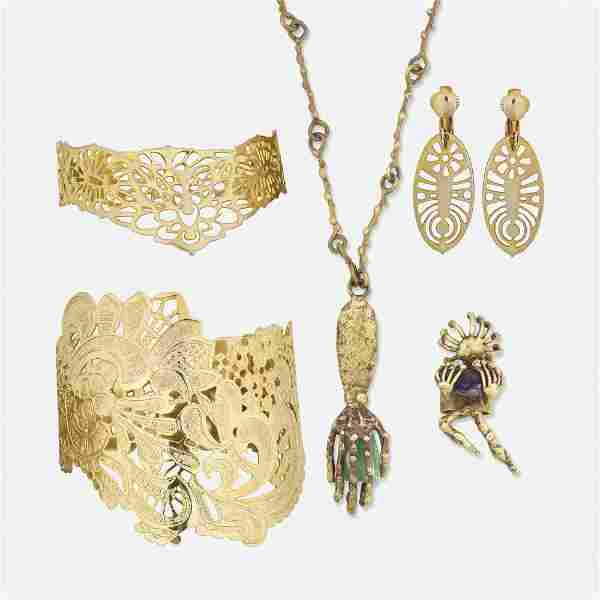 Group of modernist jewelry