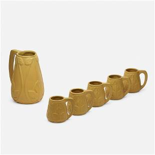 Van Briggle Pottery, Early tankard with five mugs