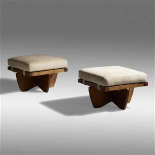 Mira Nakashima, Greenrock ottomans, pair