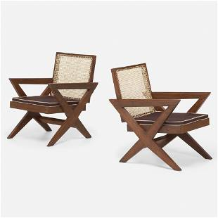 Pierre Jeanneret, Lounge chairs from Chandigarh, pair