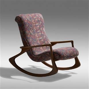 Vladimir Kagan, Sculpted rocking chair