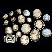 1373 MODERN AND ANTIQUE CAMEOS