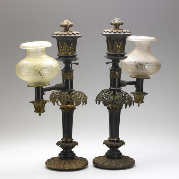 8: PAIR OF ARGAND LAMPS