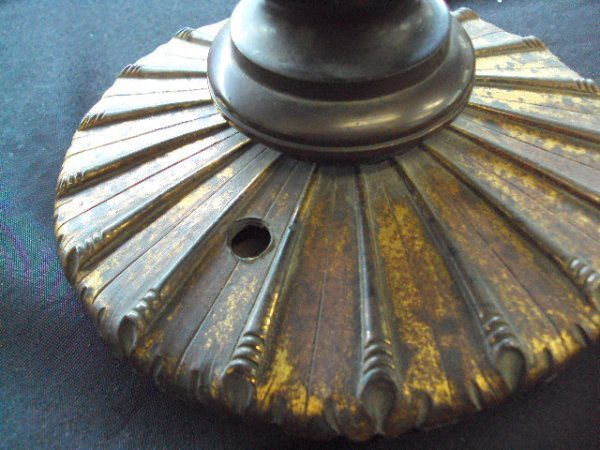 8: PAIR OF ARGAND LAMPS - 7