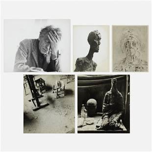 Herbert Matter, Untitled (Giacometti) (five works)