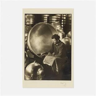 Margaret Bourke-White, Man Polishing Kettles