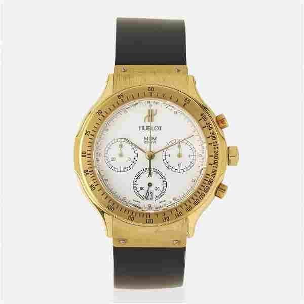 Hublot, 'MDM' gold chronograph wristwatch, Ref. 1621.3