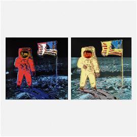 Andy Warhol, Moonwalk (two works)