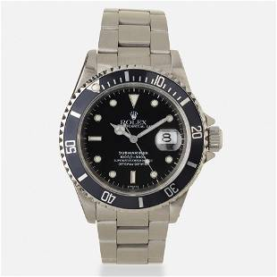 Rolex, 'Oyster Perpetual Date Submariner' steel watch