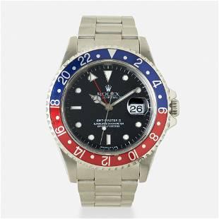 Rolex, 'GMT-Master II Pepsi' steel watch, Ref. 16710