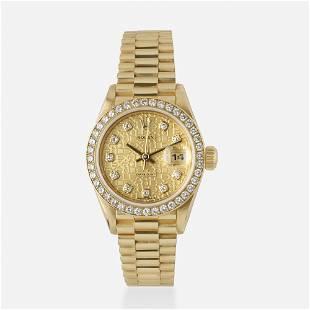 Rolex, Diamond and gold President watch, Ref. 79178